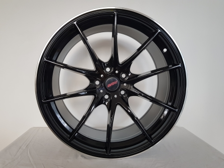 19X8.5 BLACK MACHINED LIP PCD 5X114.3 ET 40 CB 73.1