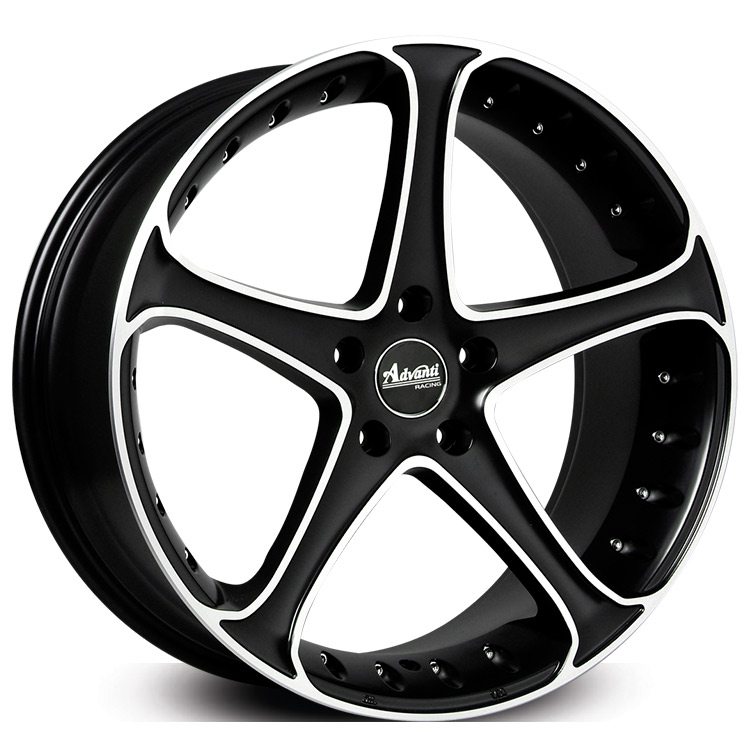 20X8.5 ADVANTI 5X120 45 GAUNTLET SATIN BLACK