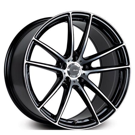 20X8.5 ADVANTI 5X120 45 N931 GLOSS BLACK