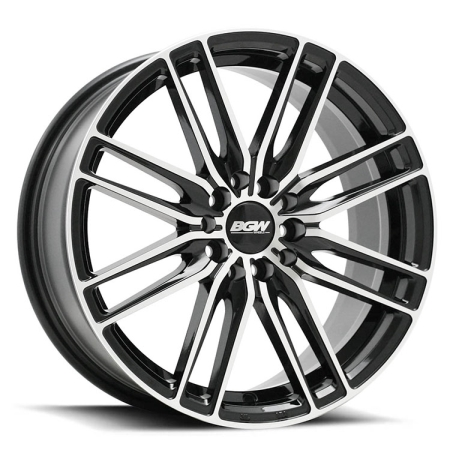 16X7 BGW 5X108/114.3 40 MAZE GLOSS BLACK W MACHINED FACE