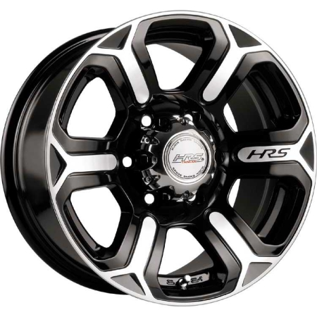 16X8 HRS 5X150 0 H-427 GLOSS BLACK W MACHINED FACE