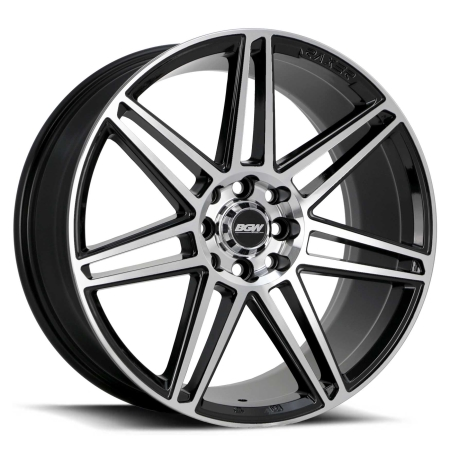 18X8 BGW 5X105/114.3 35 DAKODA GLOSS BLACK W MACHINED FACE