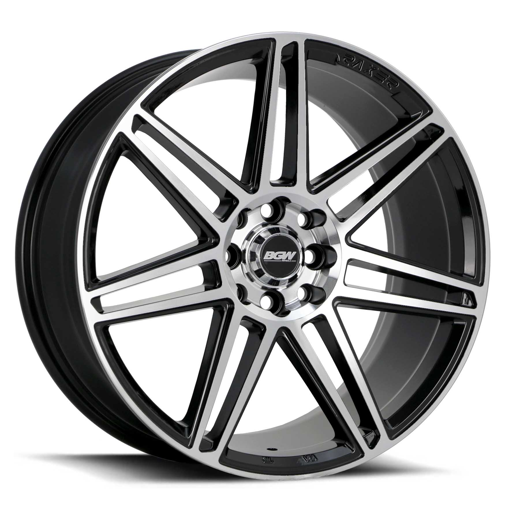 17X7.5 BGW 5X108/114.3 35 DAKODA GLOSS BLACK W MACHINED FACE