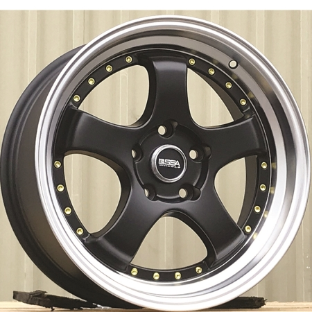 18X9.5 SSA 5X114.3 12 73.1 FURY MATTE BLACK MACHINE LIP
