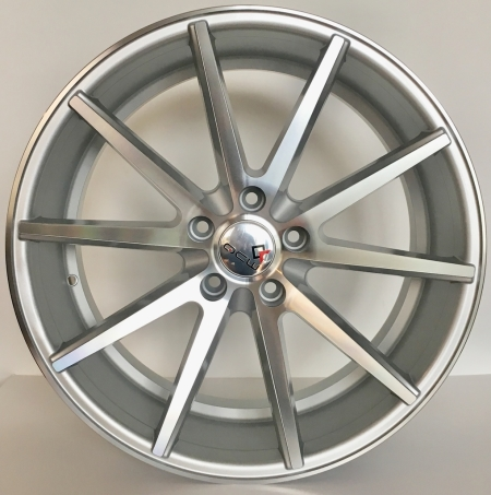 20X9 SILVER MACHINE FACE PCD 5X112 ET 45 CB 66.6