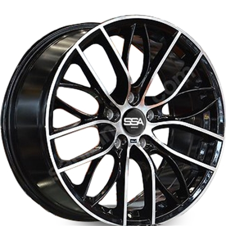 19X8.5 SSA 5X120 35 72.56 BMW REPLICA BLACK MACHINE FACE