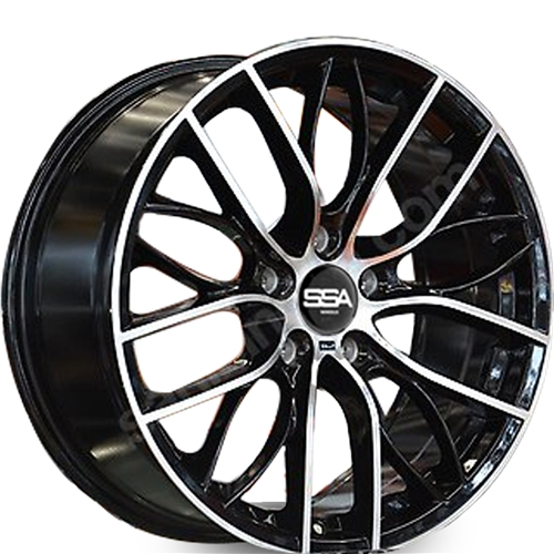 20X8.5 SSA 5X120 33 72.56 BMW REPLICA BLACK MACHINE FACE