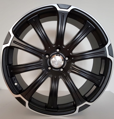 20X8.5 JH5014 BLACK MACHINE FACE PCD 5X114.3 ET 38 CB 73.1