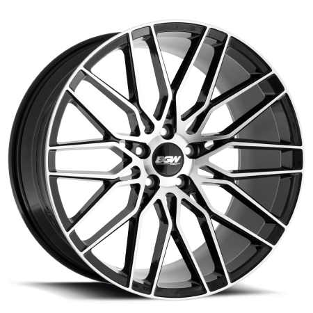 19X8.5 BGW 5X112 20 MATADOR GLOSS BLACK W MF