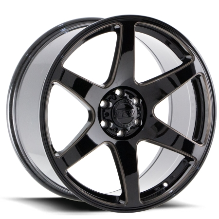 20X9 BGW 5X120 38 CARTEL GLOSS BLACK W TINTER MILLED SPOKS