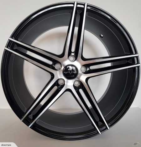 19X9.5 BLACK MACHINE FACE PCD 5X114.3 ET 35 CB 73.1